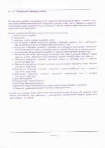 Załącznik nr 2 – obowiązkowe elementy protokołu